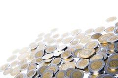 Dinero mexicano en blanco Imagen de archivo libre de regalías