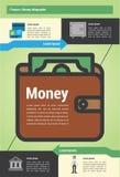 Dinero moderno del detalle infographic Imagen de archivo