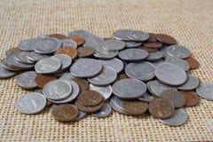 Dinero, monedas Fotografía de archivo