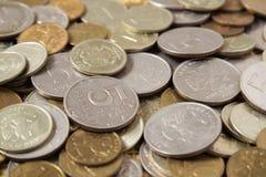 Dinero, monedas Imagen de archivo libre de regalías