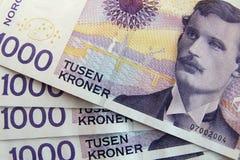 Dinero noruego Imagen de archivo libre de regalías