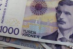 Dinero noruego Foto de archivo libre de regalías
