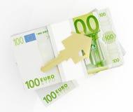 Dinero para la casa Imagen de archivo libre de regalías