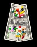 Dinero para la medicina Foto de archivo