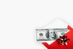 Dinero para la Navidad Imágenes de archivo libres de regalías