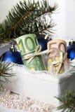 Dinero para la Navidad Imagen de archivo libre de regalías
