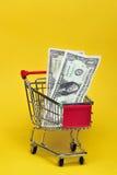 Dinero para las tiendas de comestibles Imágenes de archivo libres de regalías