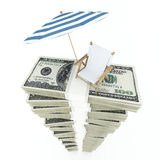 Dinero para las vacaciones Fotografía de archivo libre de regalías