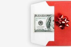 Dinero para los chrstmas Imágenes de archivo libres de regalías