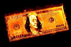 Dinero para quemar refranes Imagen de archivo libre de regalías