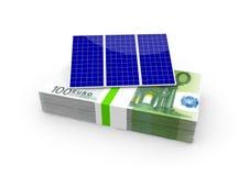 Dinero para solar Fotografía de archivo