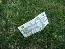 Dinero perdido Foto de archivo