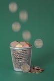 Dinero perdido - monedas Foto de archivo