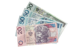 Dinero polaco Imagen de archivo libre de regalías