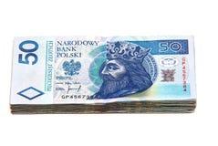 Dinero polaco aislado en blanco Foto de archivo