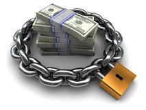 Dinero protegido Imagen de archivo