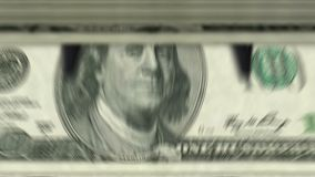 """Dinero que cuenta la máquina abajo del †""""100 dólares almacen de metraje de vídeo"""