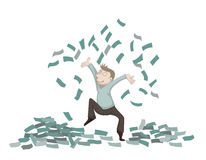 Dinero que lanza Imagen de archivo