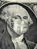 Dinero que lleva una máscara del doctor de la salud libre illustration