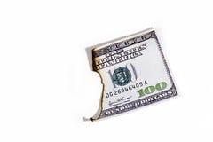 Dinero quemado Imágenes de archivo libres de regalías