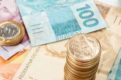 Dinero real brasileño Imagen de archivo libre de regalías