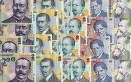 Dinero rumano Imagen de archivo