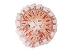 Dinero ruso aislado en blanco Imagen de archivo libre de regalías