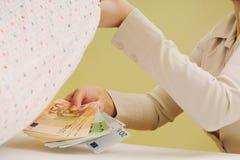 Dinero seguro Fotografía de archivo libre de regalías