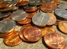 Dinero suelto Foto de archivo libre de regalías