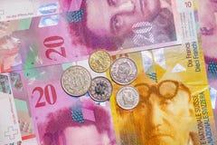 Dinero suizo foto de archivo
