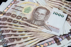 Dinero tailandés, baht 1000 Fotografía de archivo
