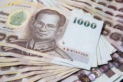 Dinero tailandés, baht 1000 Imagen de archivo