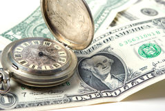 Dinero-tiempo Imagen de archivo libre de regalías