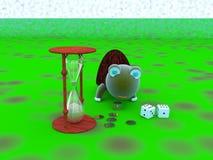 Dinero, tiempo, sabiduría Imagen de archivo libre de regalías