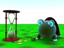 Dinero, tiempo, sabiduría Imágenes de archivo libres de regalías