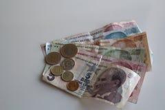 Dinero turco Imagen de archivo libre de regalías