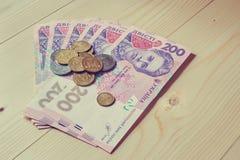 Dinero ucraniano Imagen de archivo libre de regalías