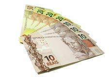 Dinero - verdadero - el Brasil Imagen de archivo libre de regalías