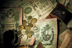 Dinero viejo Foto de archivo