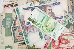 Dinero viejo brasileño imagen de archivo