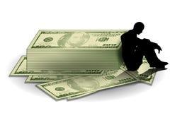 Dinero y apuros financieros Imagen de archivo libre de regalías