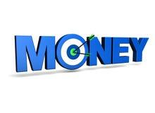 Dinero y blanco del negocio Imagen de archivo