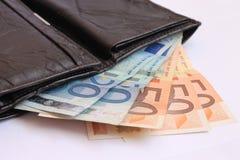 Dinero y cartera Imagenes de archivo