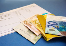 Dinero y cuenta fotos de archivo libres de regalías