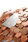 Dinero y de la tarjeta de crédito imagenes de archivo