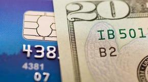 Dinero y de la tarjeta de crédito Fotografía de archivo