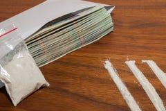 Dinero y drogas 4 Imagen de archivo libre de regalías