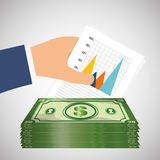 Dinero y estadísticas Fotos de archivo libres de regalías