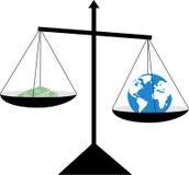 Dinero y globo ilustración del vector
