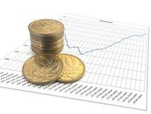 Dinero y horario de las finanzas Foto de archivo libre de regalías